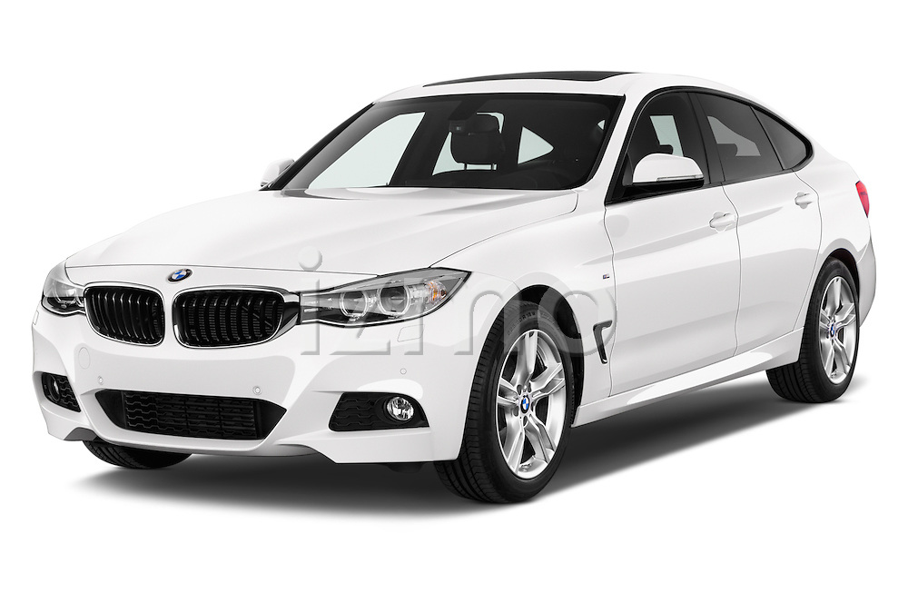 2015 BMW 3 Series M Sport 5 Door Hatchback 2WD Angular Front stock photos of front three quarter view