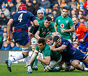 9th February 2019, Murrayfield Stadium, Edinburgh, Scotland; Guinness Six Nations Rugby Championship, Scotland versus Ireland; Quinn Roux makes some ground for Ireland