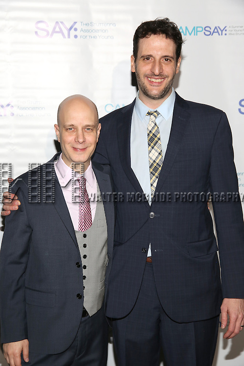 Taro Alexander and Noah Cornman attend the 5th Annual Paul Rudd All-Star Bowling Benefit for (SAY) at Lucky Strike Lanes on February 13, 2017 in New York City.