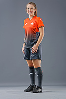 Pictured: Emma Beynon. 09 May 2018<br /> Re: Swansea City AFC studio photo-shoot at the Barn, in the Youth Academy facility in Swansea, Wales, UK.
