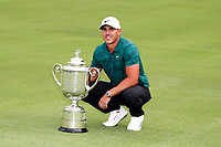 Brooks Koepka (USA) poses with the trophy after winning the 100th PGA Championship at Bellerive Country Club, St. Louis, Missouri, USA. 8/12/2018.<br /> Picture: Golffile.ie | Brian Spurlock<br /> <br /> All photo usage must carry mandatory copyright credit (&copy; Golffile | Brian Spurlock)