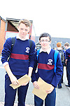 Kyle Rankin and Evan Mahan<br /> who collected there Junior cert results<br /> Picture Fran Caffrey www.newsfile.ie