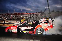 Nov. 12, 2011; Pomona, CA, USA; NHRA funny car driver Jeff Diehl during qualifying at the Auto Club Finals at Auto Club Raceway at Pomona. Mandatory Credit: Mark J. Rebilas-.