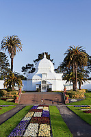 Conservatory of Flowers, victorian greenhouse in golden gate park, San Francisco
