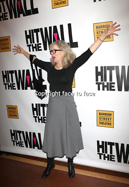 """Blythe Danner attending the New York Premiere of the Opening Night Performance of """"Hit The Wall"""" at the Barrow Street Theatre in New York City on 3/10/2013...Credit: McBride/face to face"""