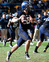 Pitt quarterback Tino Sunseri (12). The WVU Mountaineers defeated the Pitt Panthers 35-10 at Heinz Field, Pittsburgh, Pennsylvania on November 26, 2010.