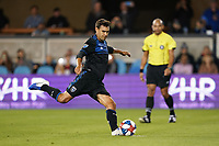 SAN JOSE, CA - JULY 16: Chris Wondolowski #8 of the San Jose Earthquakes during a friendly match between the San Jose Earthquakes and Real Valladolid on July 16, 2019 at Avaya Stadium in San Jose, California.