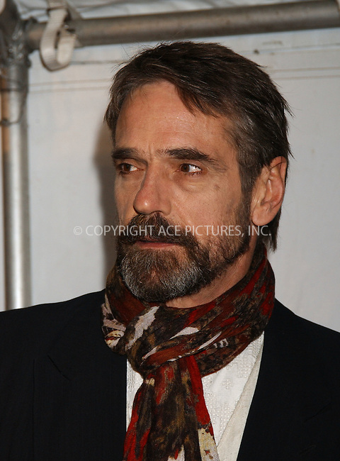 """WWW.ACEPIXS.COM . . . . . ....December 11 2005, New York City....Jeremy Irons....Red carpet arrivals at the new York Premiere of """"Casanova"""" at the Loews lincoln Square theatre.....Please byline: KRISTIN CALLAHAN - ACEPIXS.COM.. . . . . . ..Ace Pictures, Inc:  ..Philip Vaughan (212) 243-8787 or (646) 769 0430..e-mail: info@acepixs.com..web: http://www.acepixs.com"""