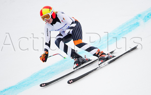 14.03.2014. Sochi, Russia.  Silver medalist Andrea Rothfuss of Germany in action during the Women's Super G - Standing of the Super Combined in Rosa Khutor Alpine Center at the Sochi 2014 Paralympic Winter Games, Krasnaya Polyana, Russia, 14 March 2014.