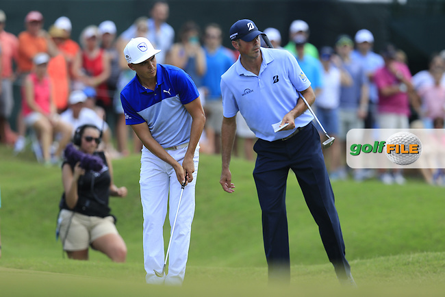 Rickie Fowler (USA) and Matt Kucher (USA) during round 2 of the Players, TPC Sawgrass, Championship Way, Ponte Vedra Beach, FL 32082, USA. 13/05/2016.<br /> Picture: Golffile | Fran Caffrey<br /> <br /> <br /> All photo usage must carry mandatory copyright credit (&copy; Golffile | Fran Caffrey)