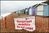 Beach hut owners left high and dry by Mother Nature.