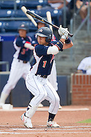 Daichi Suzuki #1 of the Japan Collegiate National Team at bat against the USA Baseball Collegiate National Team at the Durham Bulls Athletic Park on July 3, 2011 in Durham, North Carolina.  USA defeated Japan 7-6.  (Brian Westerholt / Four Seam Images)