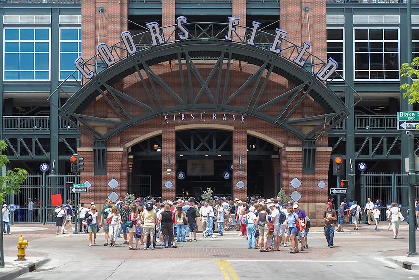 25 May 2008:  A general exterior view of the first base Blake street entrance to coors field prior to a regular season game between the New York Mets and the Colorado Rockies at Coors Field in Denver, Colorado.*****For editorial use only*****