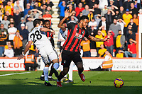 Joao Moutinho of Wolverhampton Wanderers touches Joshua King of AFC Bournemouth who goes down for a penalty during AFC Bournemouth vs Wolverhampton Wanderers, Premier League Football at the Vitality Stadium on 23rd February 2019