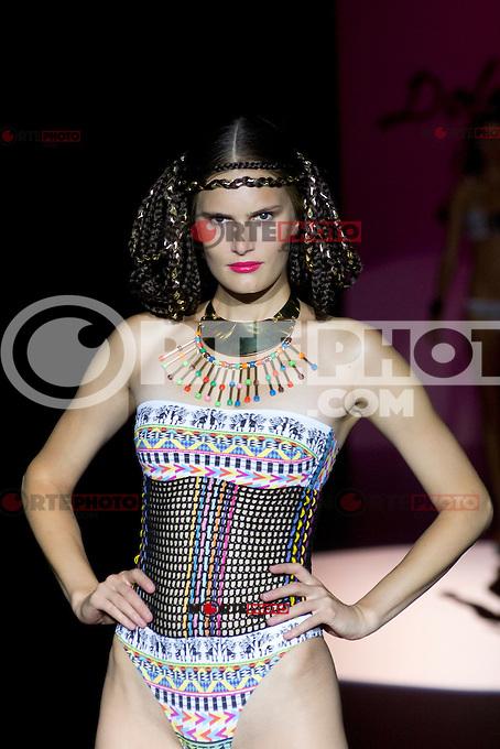03.09.2012. Models walk the runway in the Dolores Cortes fashion show during the Mercedes-Benz Fashion Week Madrid Spring/Summer 2013 at Ifema. (Alterphotos/Marta Gonzalez) /NortePhoto.com<br /> <br /> **CREDITO*OBLIGATORIO** <br /> *No*Venta*A*Terceros*<br /> *No*Sale*So*third*<br /> *** No*Se*Permite*Hacer*Archivo**<br /> *No*Sale*So*third*