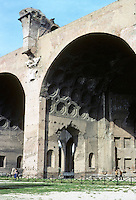Italy: Rome--Basilica of Constatine (or of Maxentius, or Basilica Nova) 250 ft. long, 85 ft. wide, 120 ft. high.