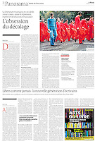 LE MONDE (main French daily newspaper) on the .2013/02/22..Historical picture from the Communist time in Romania to illustrate an artcle of the Book Fair 2013 in Paris..Photo: SAndrei Pandele / Est&Ost Photography