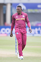 Sheldon Cottrell (West Indies) during South Africa vs West Indies, ICC World Cup Warm-Up Match Cricket at the Bristol County Ground on 26th May 2019