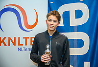 Hilversum, Netherlands, December 3, 2017, Winter Youth Circuit Masters, 12,14,and 16, years, prizegiving 16 years<br /> , 7 th place boys : Jesse de Jager<br /> Photo: Tennisimages/Henk Koster