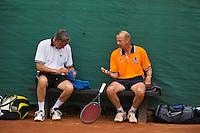 2013,August 24,Netherlands, Amstelveen,  TV de Kegel, Tennis, NVK 2013, National Veterans Tennis Championships,   Doubles Koek and Thung(L)<br /> Photo: Henk Koster