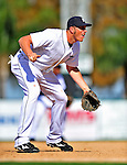 5 March 2009: Detroit Tigers' third baseman Mike Hessman in action during a Spring Training game against the Washington Nationals at Joker Marchant Stadium in Lakeland, Florida. The Tigers defeated the visiting Nationals 10-2 in the Grapefruit League matchup. Mandatory Photo Credit: Ed Wolfstein Photo