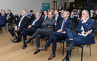 20161216 - AMSTERDAM , NETHERLANDS : illustriaton picture of audience  during the UEFA EURO 2020 Host City Logo Launch event at the Hermitage Amsterdam Venue in Amsterdam , The Netherlands , Friday 16 th December 2016 . PHOTO UEFA.COM | SPORTPIX.BE | DAVID CATRY
