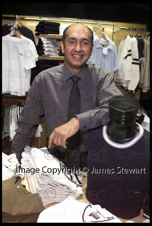 23rd May 99                           Copyright Pic : James Stewart .Ref : 990238                           .File Name : stewart12-jean scene                        .RAGU TULI (LEE), OWNER, JEANSCENE.....Payments to :-.James Stewart Photo Agency, Stewart House, Stewart Road, Falkirk. FK2 7AS      Vat Reg No. 607 6932 25.Office : 01324 630007        Mobile : 0421 416997.E-mail : JSpics@aol.com.If you require further information then contact Jim Stewart on any of the numbers above.........