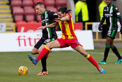 2nd December 2017, Firhill Stadium, Glasgow, Scotland; Scottish Premiership football, Partick Thistle versus Hibernian; Ryan Edwards (Partick Thistle) and Anthony Stokes of Hibernian