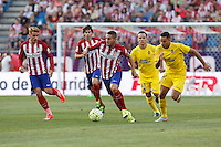 Atletico de Madrid´s Koke and Griezmann during 2015-16 La Liga match at Vicente Calderon stadium in Madrid, Spain. MONTH XX, 2015. (ALTERPHOTOS/Victor Blanco)