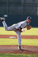 June 25th 2008:  Pitcher Skyler Crawford of the Jamestown Jammers, Class-A affiliate of the Florida Marlins, during a game at Dwyer Stadium in Batavia, NY.  Photo by:  Mike Janes/Four Seam Images