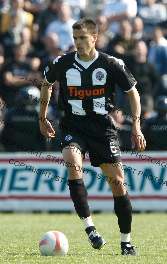 Fudbal, Meridijan super liga, sezona 2007/08.Borac (Cacak) Vs. Partizan.Milan Vjestica.Cacak, 03.30.2008..foto: Srdjan Stevanovic