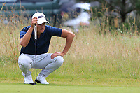 Joakim Lagergren (SWE) on the 13th green during Round 1 of the Aberdeen Standard Investments Scottish Open 2019 at The Renaissance Club, North Berwick, Scotland on Thursday 11th July 2019.<br /> Picture:  Thos Caffrey / Golffile<br /> <br /> All photos usage must carry mandatory copyright credit (© Golffile | Thos Caffrey)