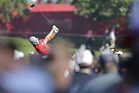 Ryan Moore (Team USA) on the 3rd tee during the Friday afternoon Fourball at the Ryder Cup, Hazeltine national Golf Club, Chaska, Minnesota, USA.  30/09/2016<br /> Picture: Golffile | Fran Caffrey<br /> <br /> <br /> All photo usage must carry mandatory copyright credit (&copy; Golffile | Fran Caffrey)