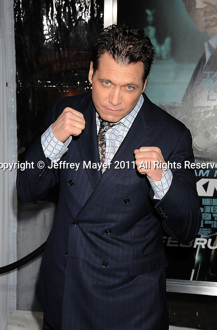 """WESTWOOD, CA - FEBRUARY 16: Holt McCallany arrives at the """"Unknown"""" Los Angeles Premiere at Mann Village Theatre on February 16, 2011 in Westwood, California."""