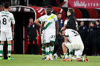 Dennis Srbeny of Norwich City holds his head at the end of the game after defeat during AFC Bournemouth vs Norwich City, Caraboa Cup Football at the Vitality Stadium on 30th October 2018