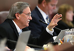Nevada Assemblyman John Ellison, R-Elko, works in commitee at the Legislative Building in Carson City, Nev., on Wednesday, April 29, 2015. <br /> Photo by Cathleen Allison