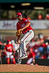 24 February 2019: Washington Nationals pitcher Kyle McGowin on the mound during a Spring Training game against the St. Louis Cardinals at Roger Dean Stadium in Jupiter, Florida. The Nationals defeated the Cardinals 12-2 in Grapefruit League play. Mandatory Credit: Ed Wolfstein Photo *** RAW (NEF) Image File Available ***