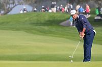 25th January 2020, Torrey Pines, La Jolla, San Diego, CA USA;  Hideki Matsuyama putting during round 3 of the Farmers Insurance Open at Torrey Pines Golf Club on January 25, 2020