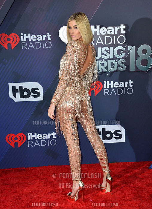 Hailey Baldwin at the 2018 iHeartRadio Music Awards at The Forum, Los Angeles, USA 11 March 2018<br /> Picture: Paul Smith/Featureflash/SilverHub 0208 004 5359 sales@silverhubmedia.com