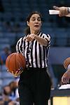 13 November 2015: Referee Kristi Vera. The University of North Carolina Tar Heels hosted the Gardner-Webb University Runnin' Bulldogs at Carmichael Arena in Chapel Hill, North Carolina in a 2015-16 NCAA Division I Women's Basketball game. Gardner-Webb won the game 66-65.