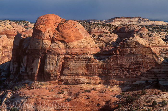 792800170 magnificent sandstone formations dot the arid high desert landscape near escalante in central utah