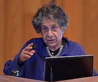 Grawemeyer Award in Religion 2013 winner Dr. Leila Ahmed talks during the Louisville Presbyterian Theological Seminary's Engagement Week 2013.