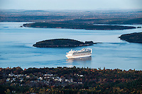 Cruise ship, Bar Harbor, Maine, USA