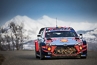 26th January 2020, Monaco, Monte Carlo;  NEUVILLE Thierry (BEL), GILSOUL Nicolas (BEL), Hyundai i20 Coupe WRC, Hyundai Shell Mobis WRT, action during the 2020 WRC World Rally Car Championship finish, Monte Carlo rally