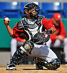 4 March 2012: Houston Astros' catcher Rene Garcia in action against the Washington Nationals at Space Coast Stadium in Viera, Florida. The Astros defeated the Nationals 10-2 in Grapefruit League action. Mandatory Credit: Ed Wolfstein Photo