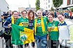 Megan Lammers Sheehy, Cassie Lammers Sheehy, Ashley McKay, Michael Prudente, Kristy Lammers and Michelle Lammers, all from New York, pictured at the All Ireland SFC quarter final Kerry v Galway in Croke Park, Dublin on Sunday.