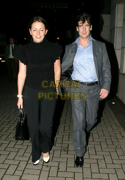 DAVINA MCCALL & MATTHEW ROBERTSON.Daily Mirror's Pride Of Britain Awards at the London Hilton, Park Lane.15 March 2004.full length, full-length.www.capitalpictures.com.sales@capitalpictures.com.© Capital Pictures.