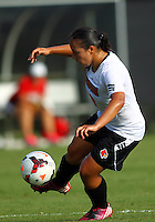 WINSTON-SALEM, NORTH CAROLINA - August 30, 2013:<br />  Charlyn Corral (9) of Louisville University controls the ball against Virginia Tech during a match at the Wake Forest Invitational tournament at Wake Forest University on August 30. The game ended in a 1-1 tie.
