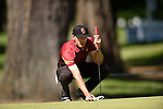 30 MAY 2016: Jonah Texeira of the University of Southern California competes in the Division I Men's Golf Championship is held at the Eugene Country Club in Eugene, OR. Texeira tied for 75th place with a score of +17. Stephen Nowland/NCAA Photos
