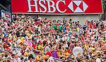 Samoa play Portugal on Day 2 of the Cathay Pacific / HSBC Hong Kong Sevens 2013 on 23 March 2013 at Hong Kong Stadium, Hong Kong. Photo by Aitor Alcalde / The Power of Sport Images
